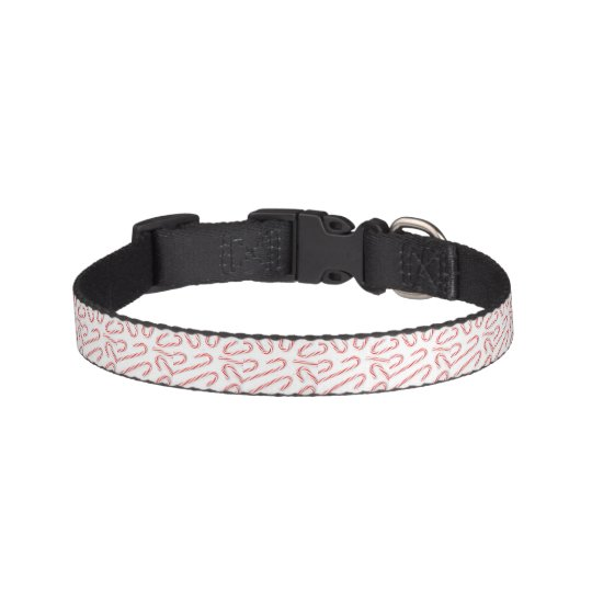 Stunning Christmas Candy Canes Pet Collar