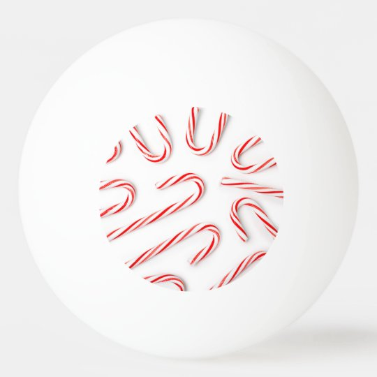 Stunning Christmas Candy Canes Ping Pong Ball
