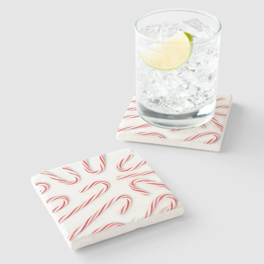 Stunning Christmas Candy Canes Stone Coaster