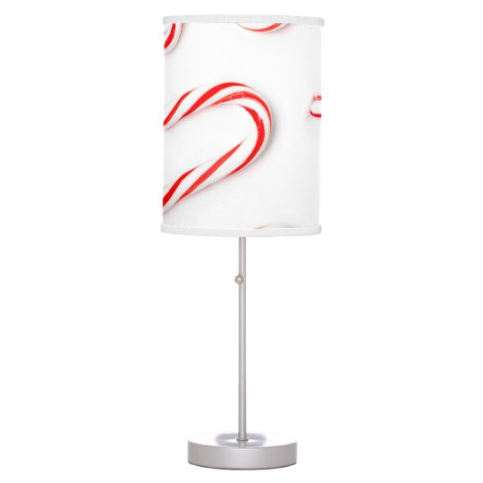 Stunning Christmas Candy Canes Table Lamp