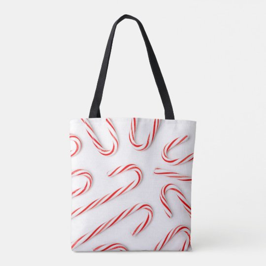 Stunning Christmas Candy Canes Tote Bag