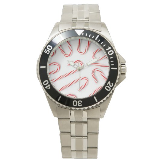Stunning Christmas Candy Canes Watch