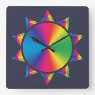 Stunning Colorful Sun Design Wall Clock