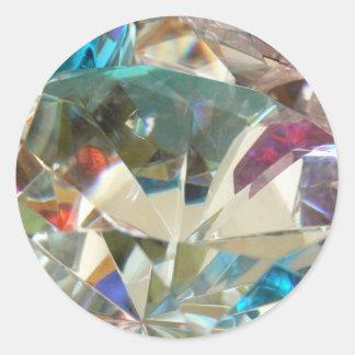 Stunning Crystal Classic Round Sticker