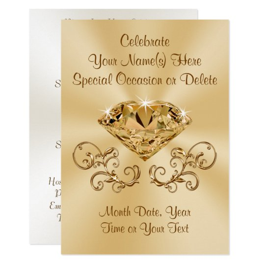 Stunning Diamond Invitations PERSONALIZED