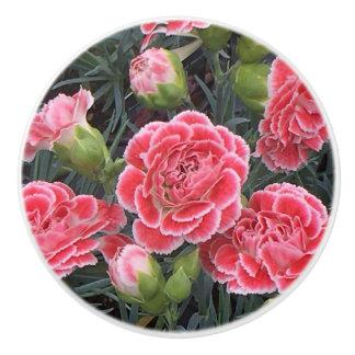 Stunning Dianthus Ceramic Knob