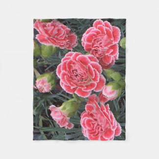Stunning Dianthus Fleece Blanket
