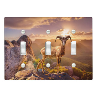 Stunning European Mouflon Light Switch Cover