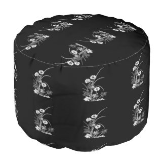 Stunning floral pouf