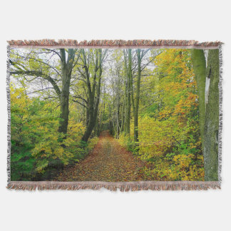 Stunning Forest Print Throw Blanket