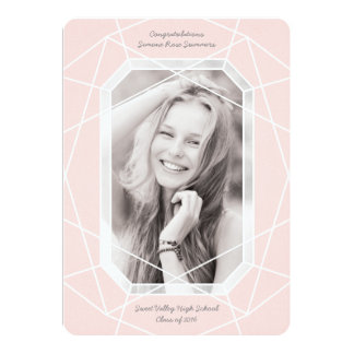 Stunning Gem High School Graduation Announcements