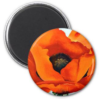 Stunning Georgia O'Keeffe Red Poppy Magnet