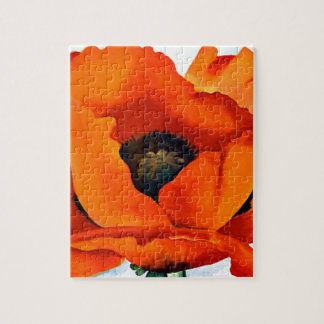 Stunning Georgia O'Keeffe Red Poppy Puzzle