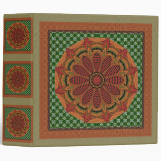 Stunning Gold And Rust Framed Mandala Vinyl Binder