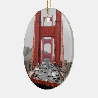 STUNNING! GOLDEN GATE BRIDGE CALIFORNIA USA CERAMIC ORNAMENT