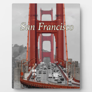 STUNNING! GOLDEN GATE BRIDGE CALIFORNIA USA PLAQUE