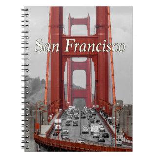 STUNNING! GOLDEN GATE BRIDGE CALIFORNIA USA SPIRAL NOTEBOOKS