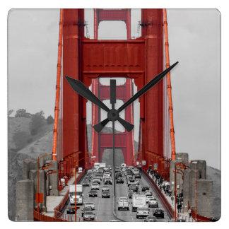 STUNNING! GOLDEN GATE BRIDGE CALIFORNIA USA SQUARE WALL CLOCK