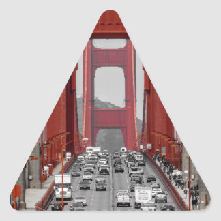 STUNNING! GOLDEN GATE BRIDGE CALIFORNIA USA TRIANGLE STICKER