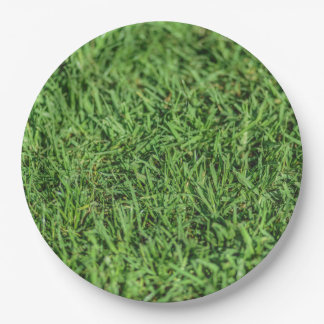 Stunning Grassy Green Party Plate 9 Inch Paper Plate