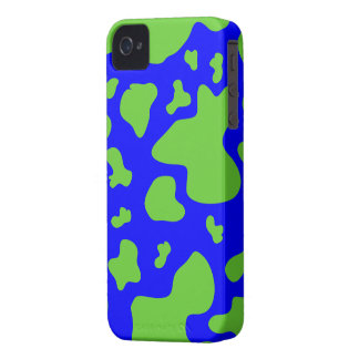 Stunning Green/Blue Cow Print - iPhone 4/4s Case