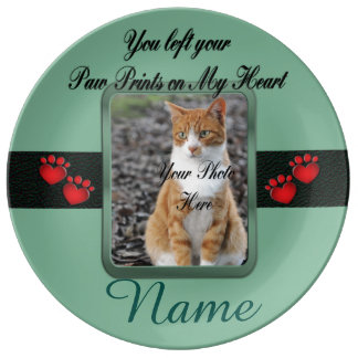 Stunning Green Pet Memorial Porcelain Plates