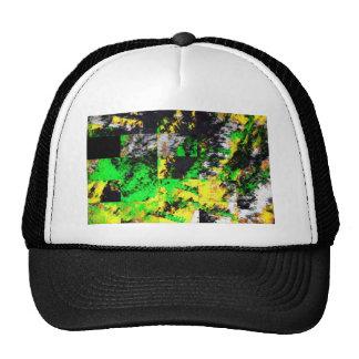 Stunning Green Yellow Abstract Fine Artwork Trucker Hat