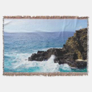 Stunning Hawaii Ocean Throw Blanket or Your Photo