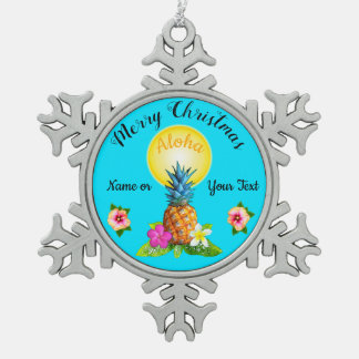 Stunning Hawaiian Christmas Ornaments PERSONALIZED
