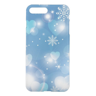 stunning hearts and snowflakes iPhone 7 plus case