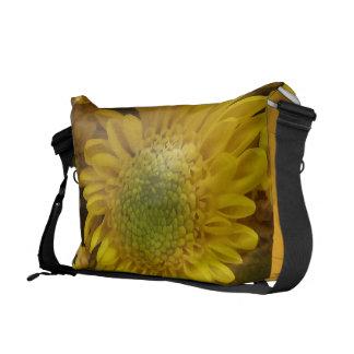 Stunning Huge Yellow Flower Print Messenger Bag