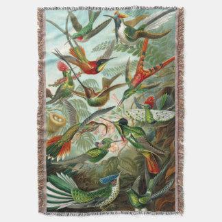 Stunning Hummingbirds Print By Ernst Haeckel Throw Blanket