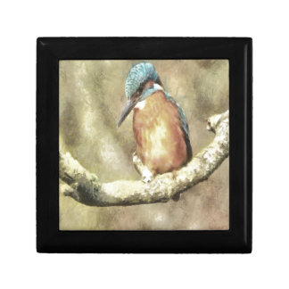 Stunning Kingfisher In Watercolor Gift Box