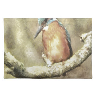 Stunning Kingfisher In Watercolor Placemat