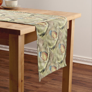 Stunning Kingfisher In Watercolor Short Table Runner