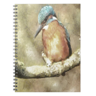 Stunning Kingfisher In Watercolor Spiral Notebook