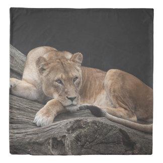 Stunning lioness duvet cover