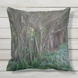 Stunning Magical Trees Design Throw Pillow