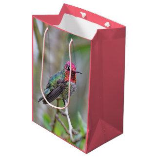 Stunning Male Anna's Hummingbird on the Plum Tree Medium Gift Bag