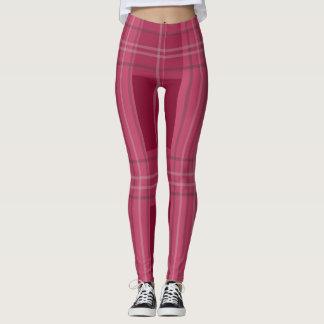Stunning maroon color checks pattern legging