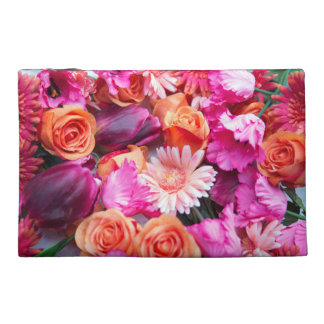 stunning mix OF of roses, daisies and tulips Travel Accessory Bags