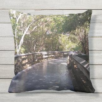 Stunning Nature Path Print Outdoor Pillow