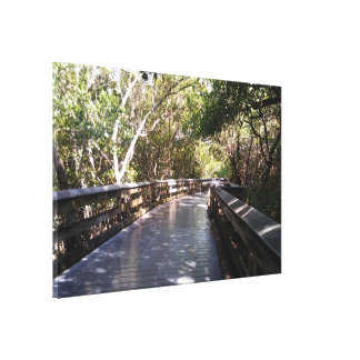 Stunning Nature Walk Path Huge Wrapped Canvas
