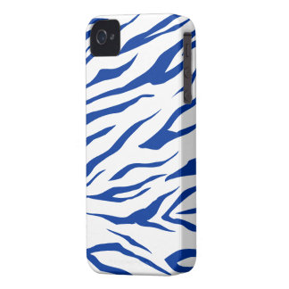 Stunning Navy/White Tiger Print - iPhone 4/4s Case