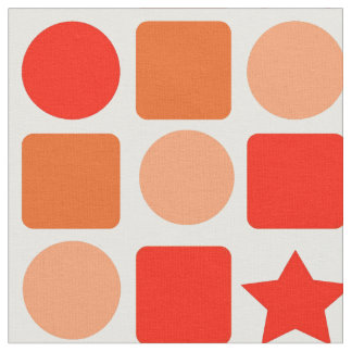 Stunning Orange-Flavored Geometric Fabric
