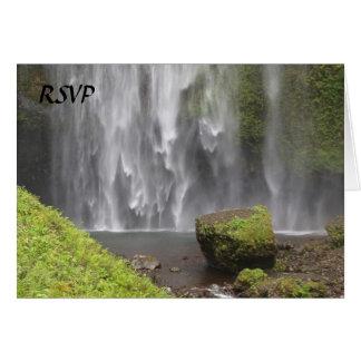 Stunning Oregon Waterfall Wedding Card