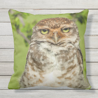 Stunning Owl in Nature Throw Pillow