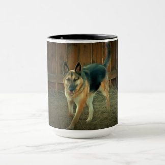 Stunning painted German Shepherd Mug