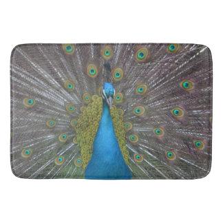 Stunning Peacock Bath Mat