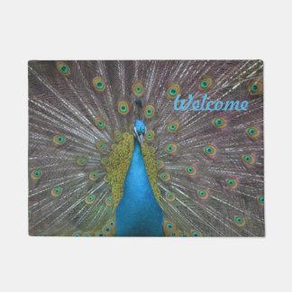 Stunning Peacock Doormat